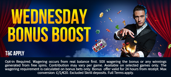 Wednesday Bonus Boost
