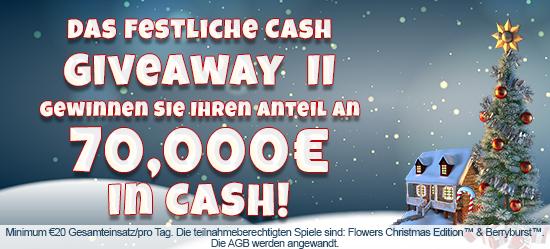 Das festliche Cash-Giveaway II