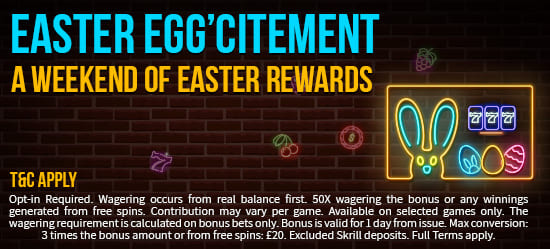 Our Seasonal April Bonus