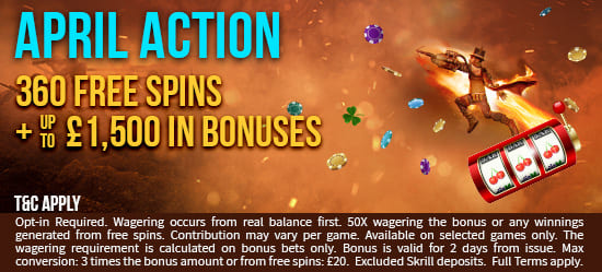 Royalzee's April Action Bonus