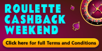 ROULETTE CASHBACK WEEKEND
