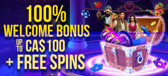 100% up to CA$100 + Free Spins
