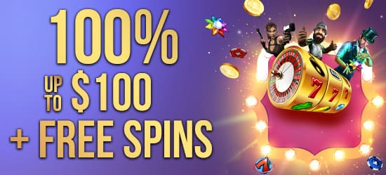 100% up to $100 + Free Spins