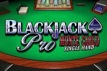 Play BlackjackPro MonteCarlo Singlehand Casino on HippoZino