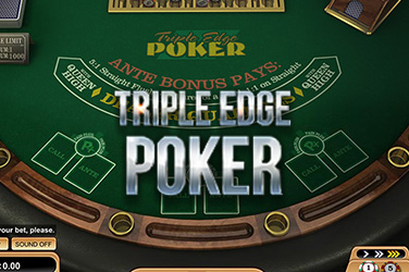 Play Triple Edge Poker (Three Card Poker) Casino on HippoZino