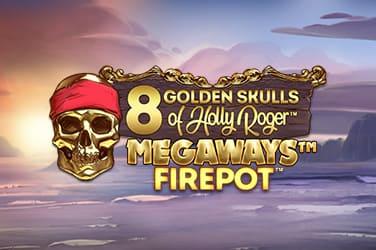 Play 8 Golden Skulls of the Holly Roger Slots on HippoZino Casino