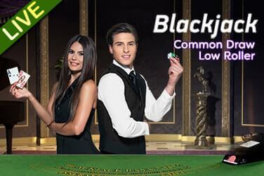 LiveCasino Common Draw Blackjack Low Roller - Rizk Casino