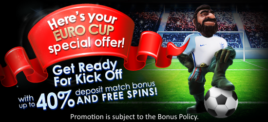 Claim Your Freespins Euro Cup 2016 Promotion at Hippozino