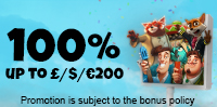 100% Welcome Deposit Bonus up to £/$/€200