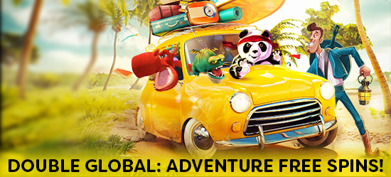 FREE SPINS GLOBAL ADVENTURE! - A planet of slots action awaits!