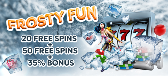 No need for the winter blues when you can enjoy some Frosty Fun, right here at HeartofCasino.com! The slots are warm, really warm, so pull up a seat and get: